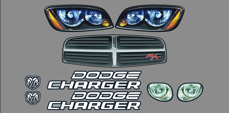 ngb dodge charger nose graphics kit. Black Bedroom Furniture Sets. Home Design Ideas
