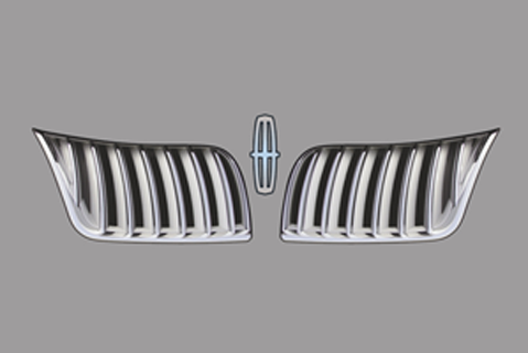 Lincoln MKS Upper Grill Decal