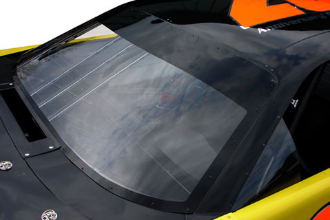 Pre-cut, Pre-drilled, Pre-blacked, Molded Marguard Front Window