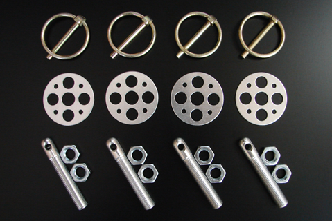 Aluminum & Steel Hood Pin Kits